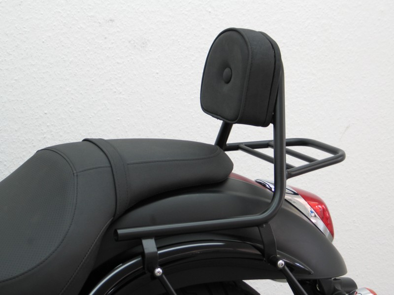kawasaki vn900 custom sissybar with pad and carrier black. Black Bedroom Furniture Sets. Home Design Ideas