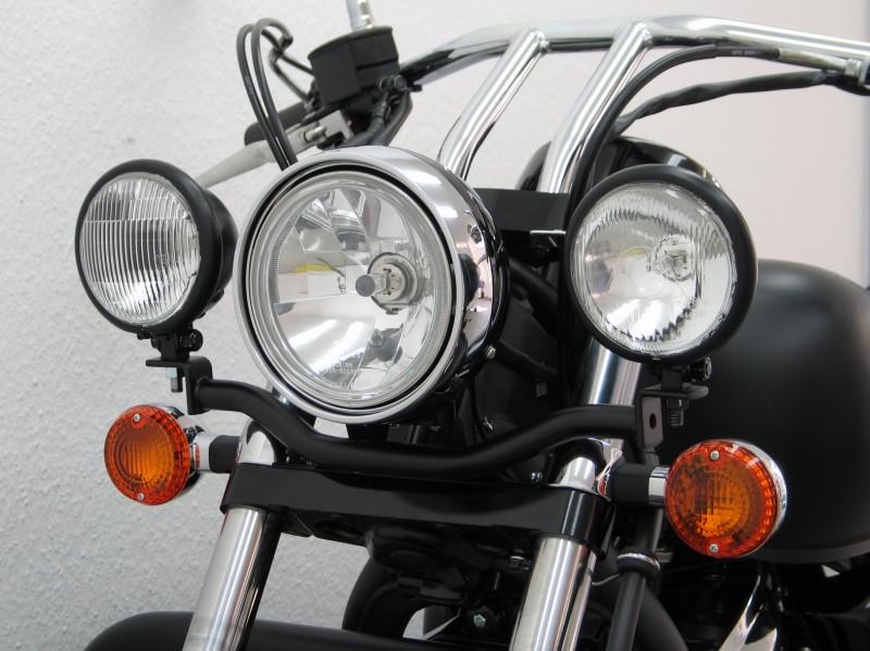 Kawasaki vn900 custom lightbar bracket for additional spotlights kawasaki vn900 custom lightbar bracket for additional spotlights black finish magnum aloadofball Image collections