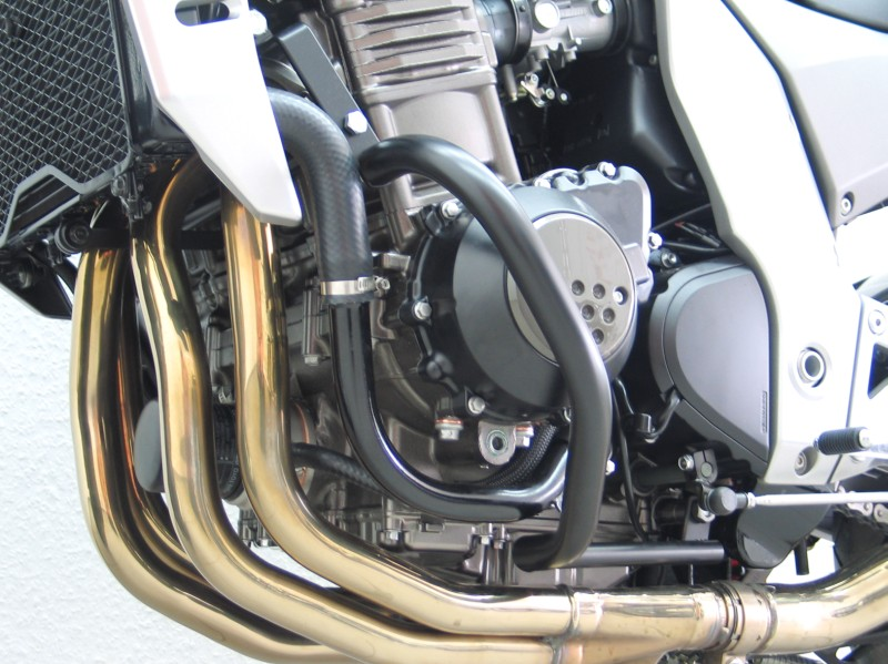 Kawasaki Z750 Z1000 Zephyr Crashbars Engine Protector Guard Black Magnum 763 750