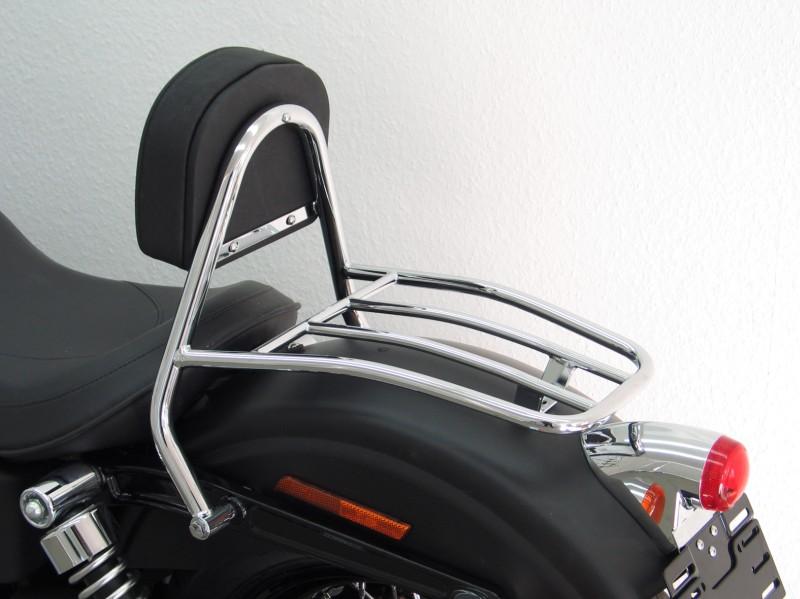 Harley Davidson Dyna Street Bob2009 Up Driver Backrest And Luggage Rack