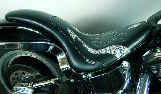 Harley Davidson Cruiser >> Granucci Gel Seat Long Seat Harley Davidson SOFTAIL ,Fat Boy - Springer 00 -06 year, Standard ...