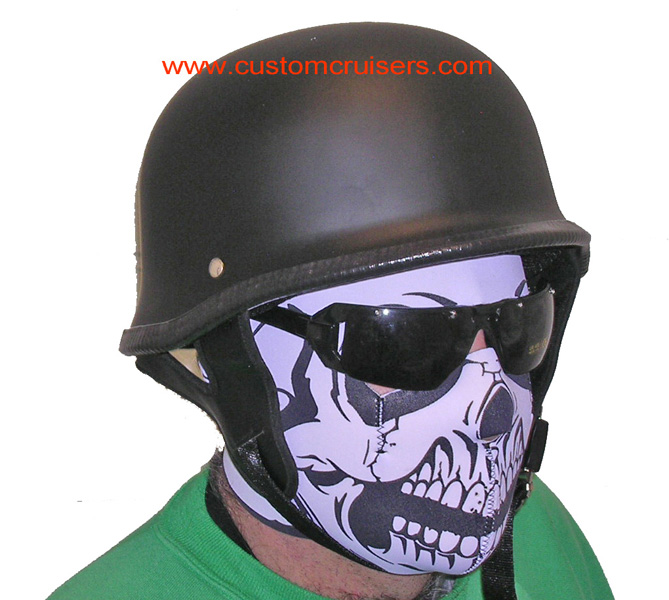 German Helmet Motorcycle Helmet Fiberglass Padded Storm