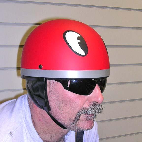 Dot Retro Style Helmet John Cooper Eyes British Pudding