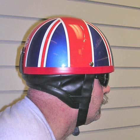 Dot Retro Style Helmet Union Jack Flag British Pudding