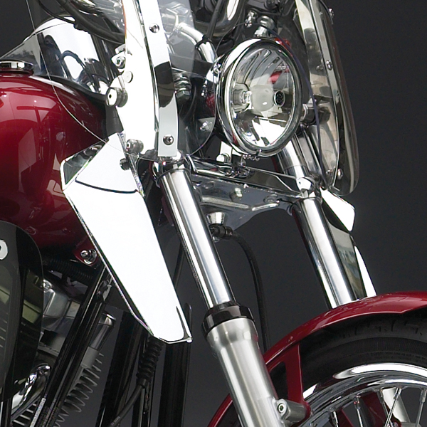 National Cycle Chrome Lower Deflectors For Switchblade Windshield Harley Davidson Xl1200r