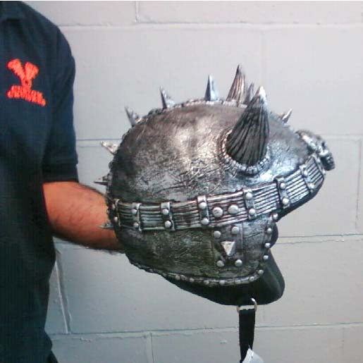 Silly Helmet Cover Horney Black Silver Viking Helmet