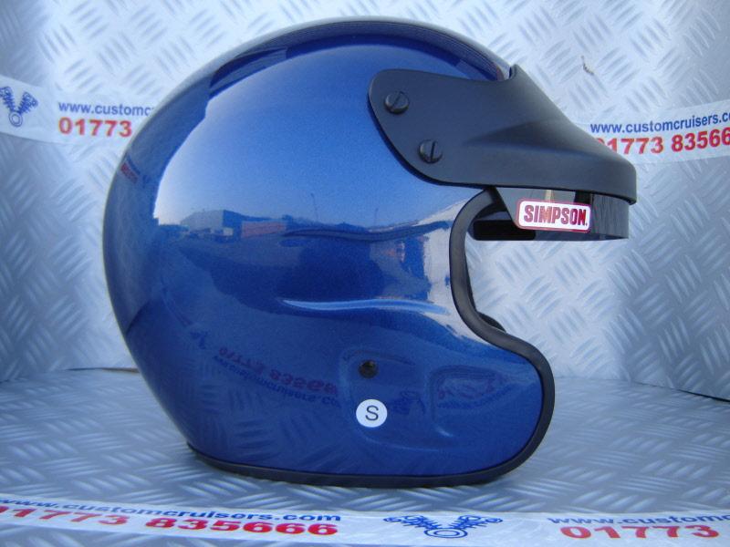 Simpson Racing Helmets >> Simpson Cruiser Helmet Metallic Blue *Limited Edition*