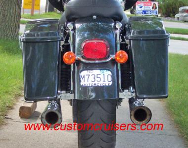Flstf Harley Fat Boy Rear End And Progressive Air Tail