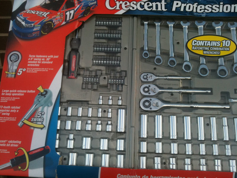Tool Box Covers >> Crescent 195 piece Tool kit Professional