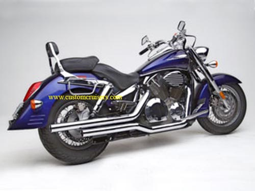 Honda VTX 1300 Retro/S Hard Krome Kickers Exhaust