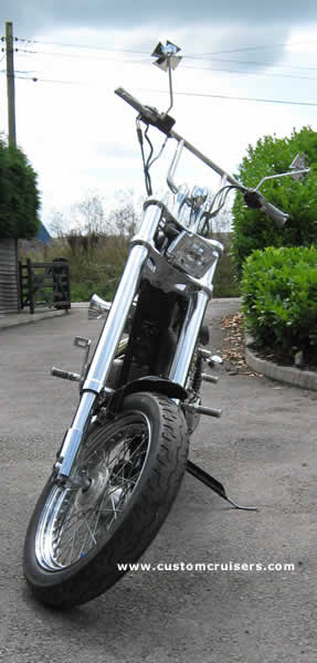 Harley sportster Softail - Raked triple tree 13 degree Front End Kit Up to  1999 all EVOlution