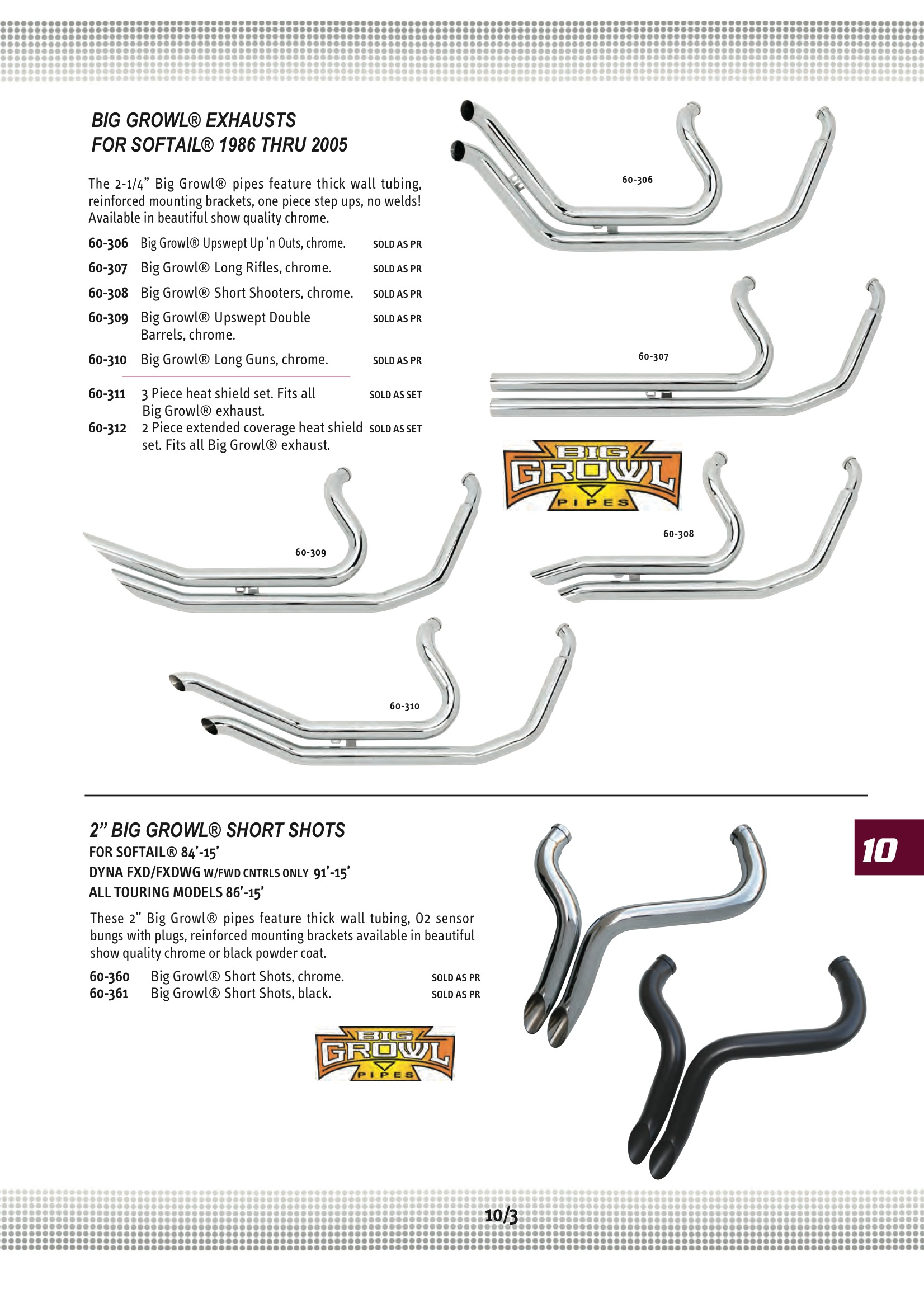 Ultima Big Growl Exhaust Shortshots Chrome Midwest 60 360 Vt750dc Wiring Diagram 10 3
