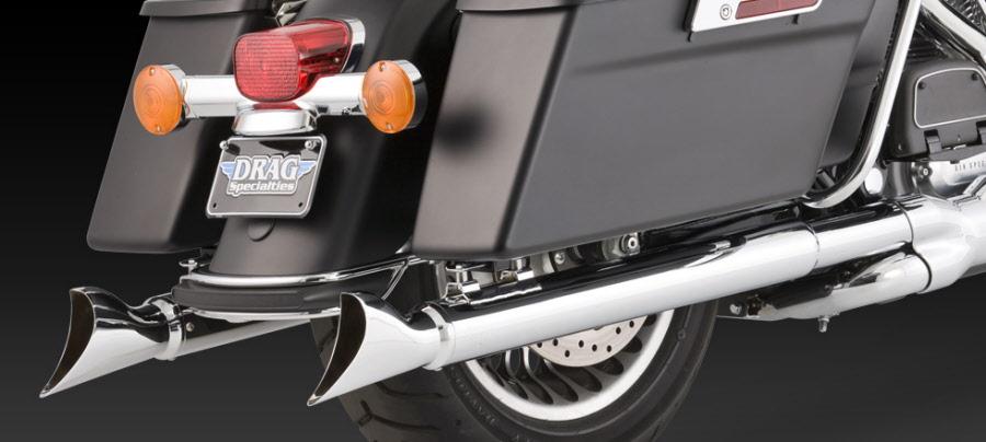 Harley Davidson Street Glide 1995-Up Exhaust Vance & Hines Fishtail Slip Ons