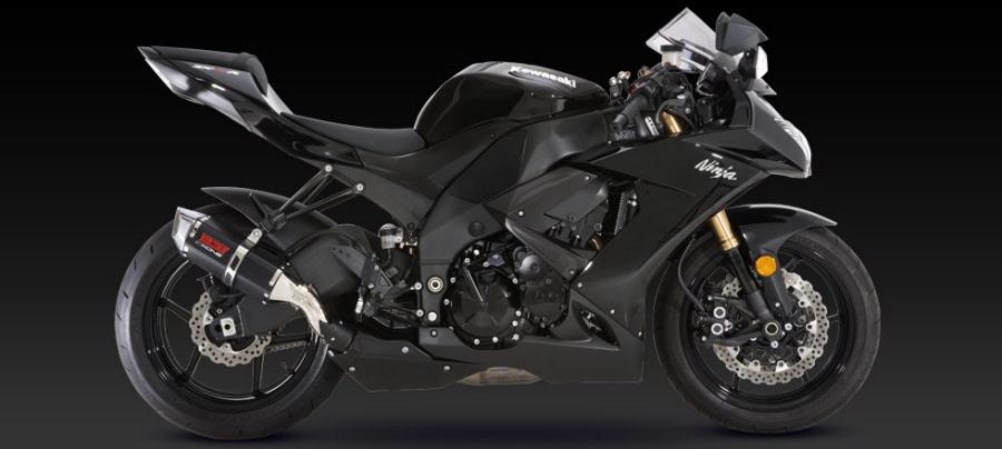 Kawasaki Zx10 Ninja 2008 2010 Exhaust Cs One Slip On Exhaust Black