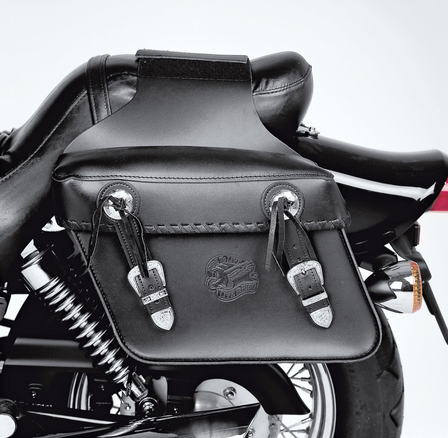 Held rancher motorcycle motorbike saddle bags panniers for Motor cycle saddle bags