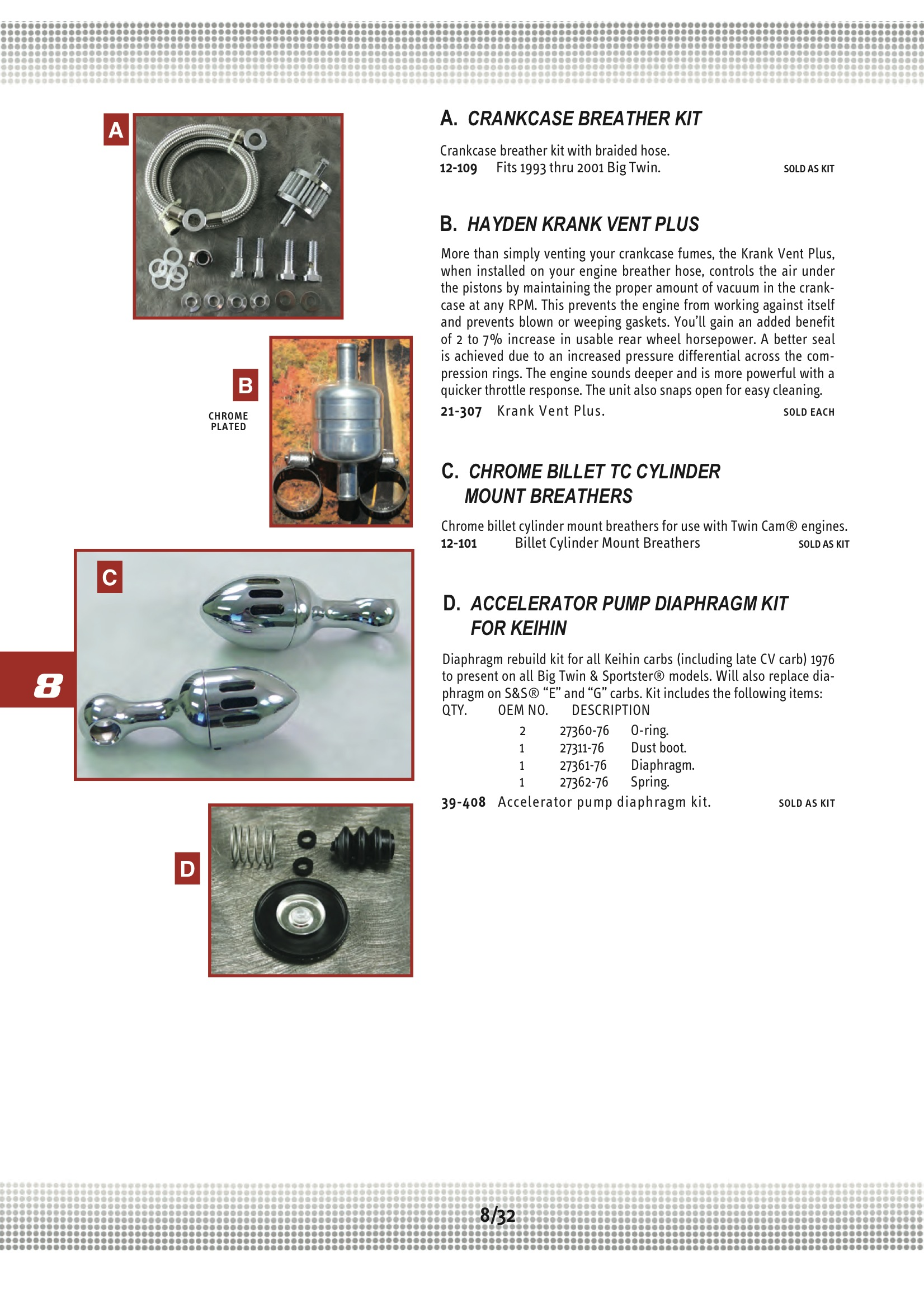 Ultima CRANKCASE BREATHER KIT