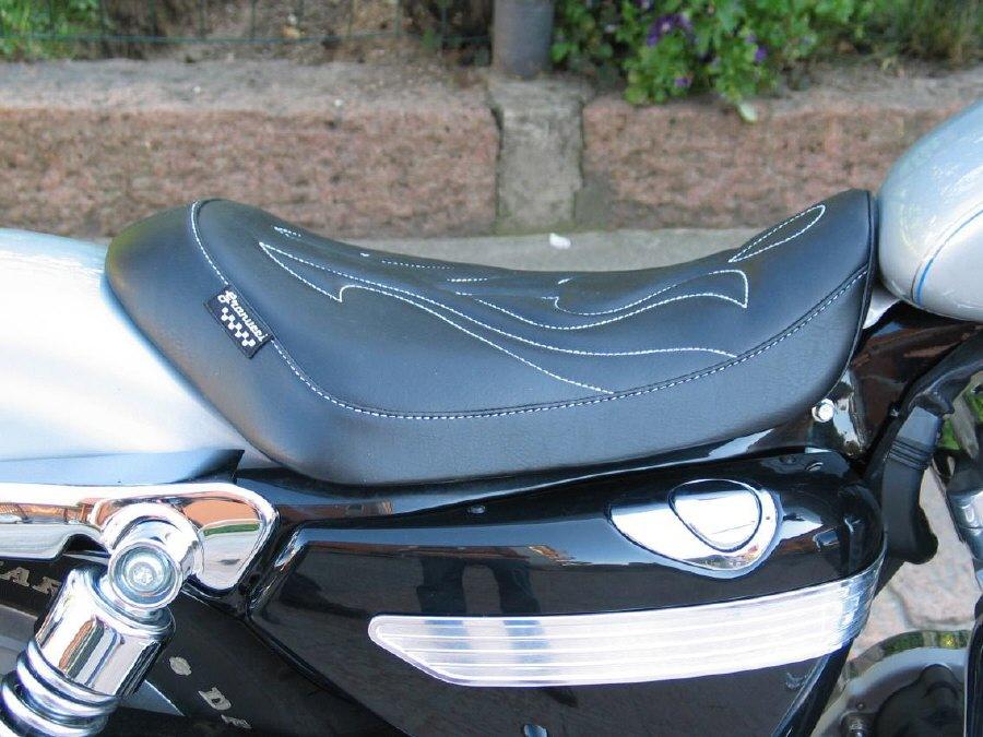 Granucci Gel Seat Fantasy Solo Seat Harley Davidson SPORTSTER 883 1200 Solo  Seat