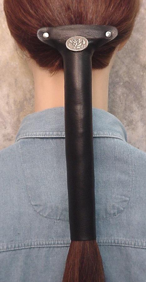 Lady Biker Leather Hair Tube By Hawg Tyd