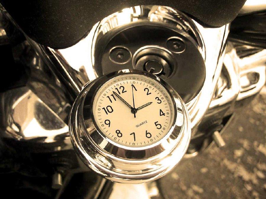 Harley Davidson Handlebar Clock Uk