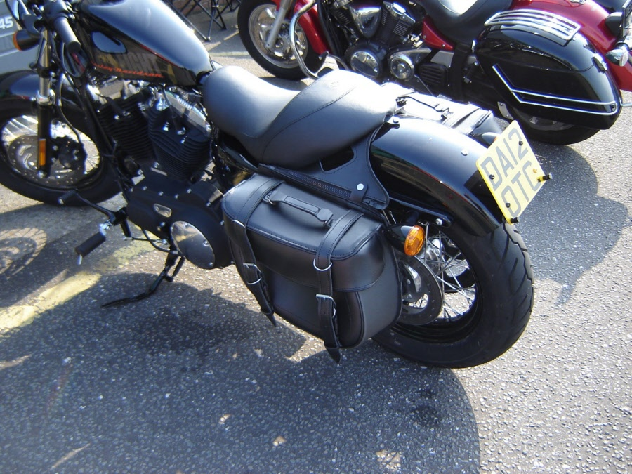 Motorcycle Saddle Bags Zip Off Quick Release Naguahyde