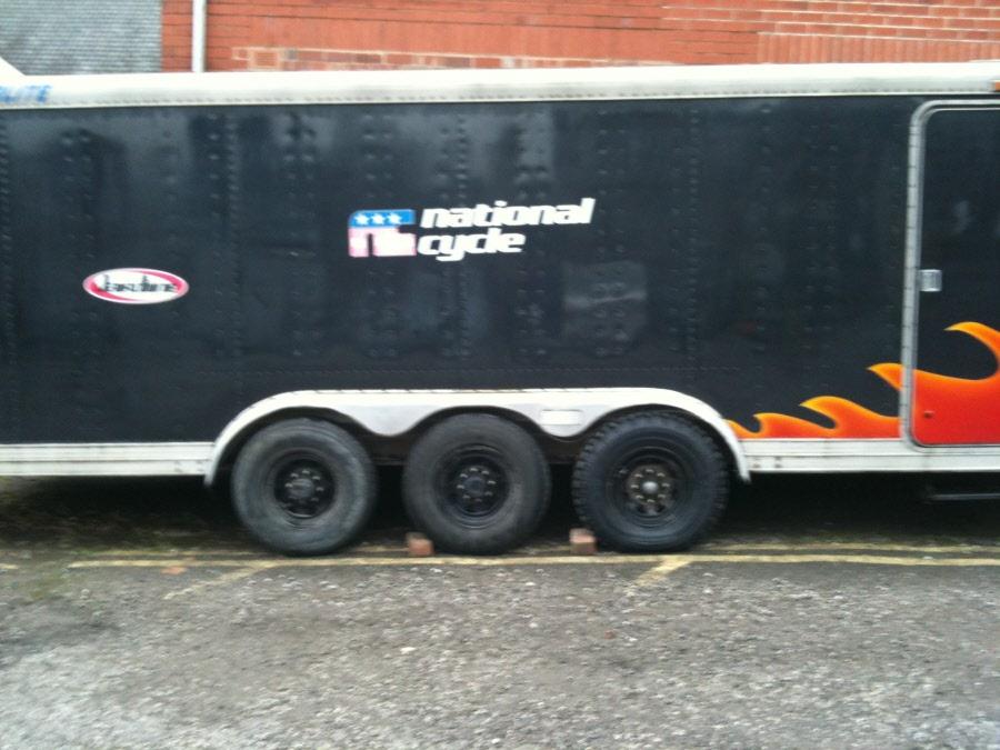 Electric Bikes For Sale >> Featherlite Race transporter triaxle 38ft American Gooseneck fifth wheel trailer for sale