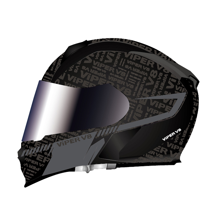 5100d5d4 Viper Motorcycle Helmet Integral Full Face Protection Integral Sun ...