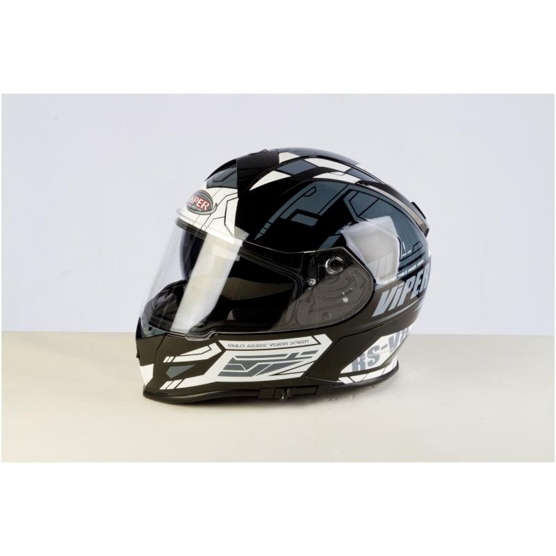 f943c8fe Viper Motorcycle Helmet Full Face Integral Sun Visor Stereo Speakers ...
