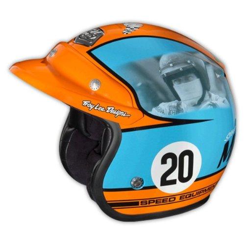 Troy Lee Designs Helmet >> Troy Lee Design Open Face Helmet Steve MC QUEEN BLUE ORANGE XL - ECE XL DOT