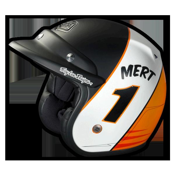 Design Helm troy design open helmet mert lawwill lg ece large