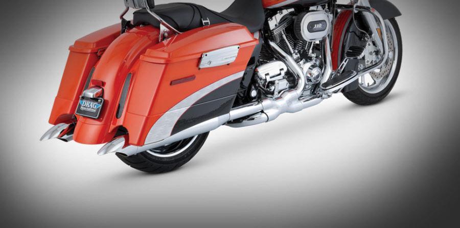 Harley Davidson Street Glide 1995-Up Exhasut Vance & Hines Turndown Slip Ons
