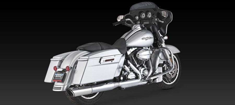 Harley Davidson Street Glide 2010 Exhaust Vance & Hines Twin Slash 2-into-1  Slip-on