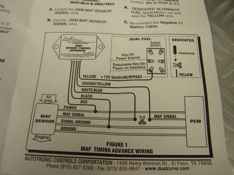 Msd Dual Curve 40672 Lpg Cng Maf Timing Advance Unit