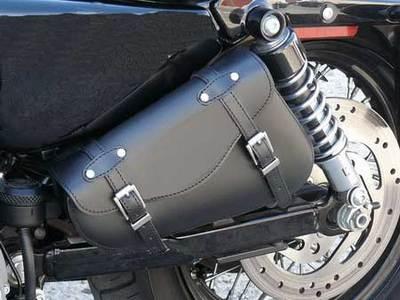 Harley Sportster Swingarm Bags Plain 3mm Leather Magnum