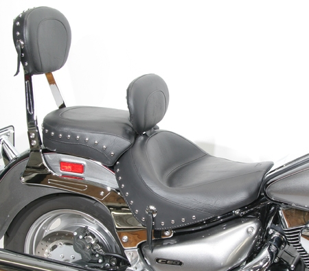 Seat - Two-Piece Wide Touring Seat with Driver Backrest ...