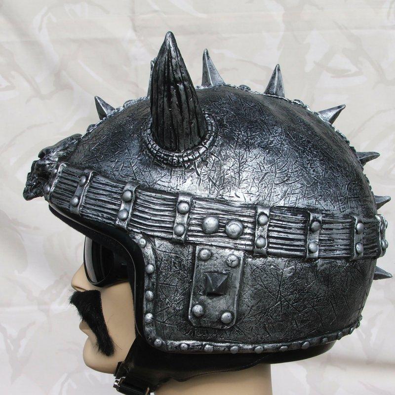 Silly Helmet Cover Horney Black Silver Viking Helmet