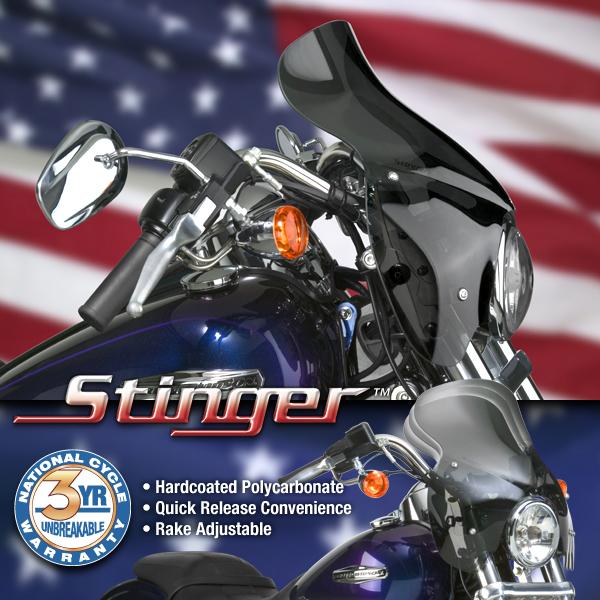 Stinger Harley Davidson >> Harley Davidson Dyna Glide Windshield Stinger Quick Release Windshield Dark Tint N21601