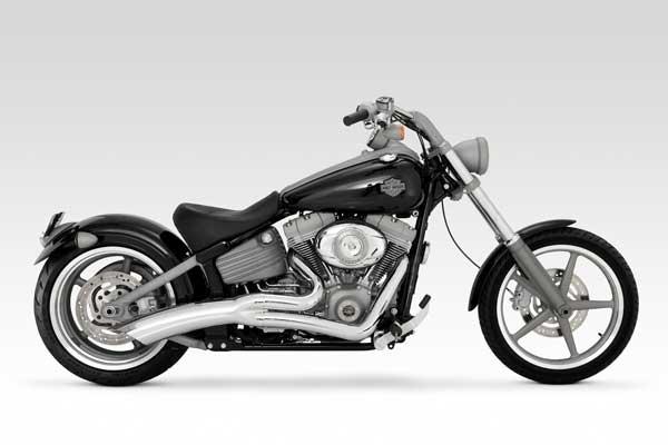 Harley Davidson Softail Rocker Exhaust Vance & Hines Big Radius 2-1 Black
