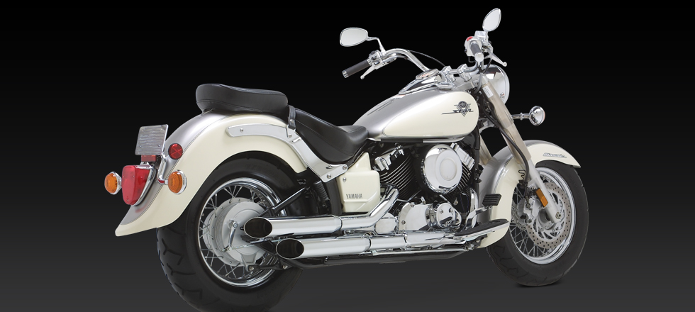 Yamaha XVS650A XVS400A Dragstar V-Star Classic Exhausts