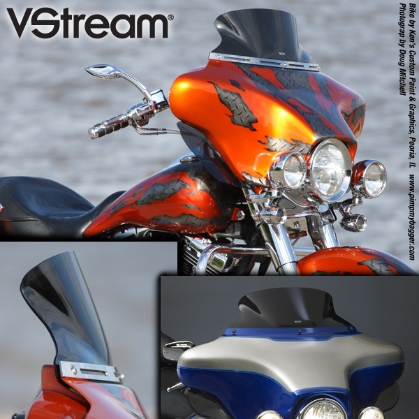 Harley Davidson Electra Glide VStream Windscreen Ultra Low Dark N20405
